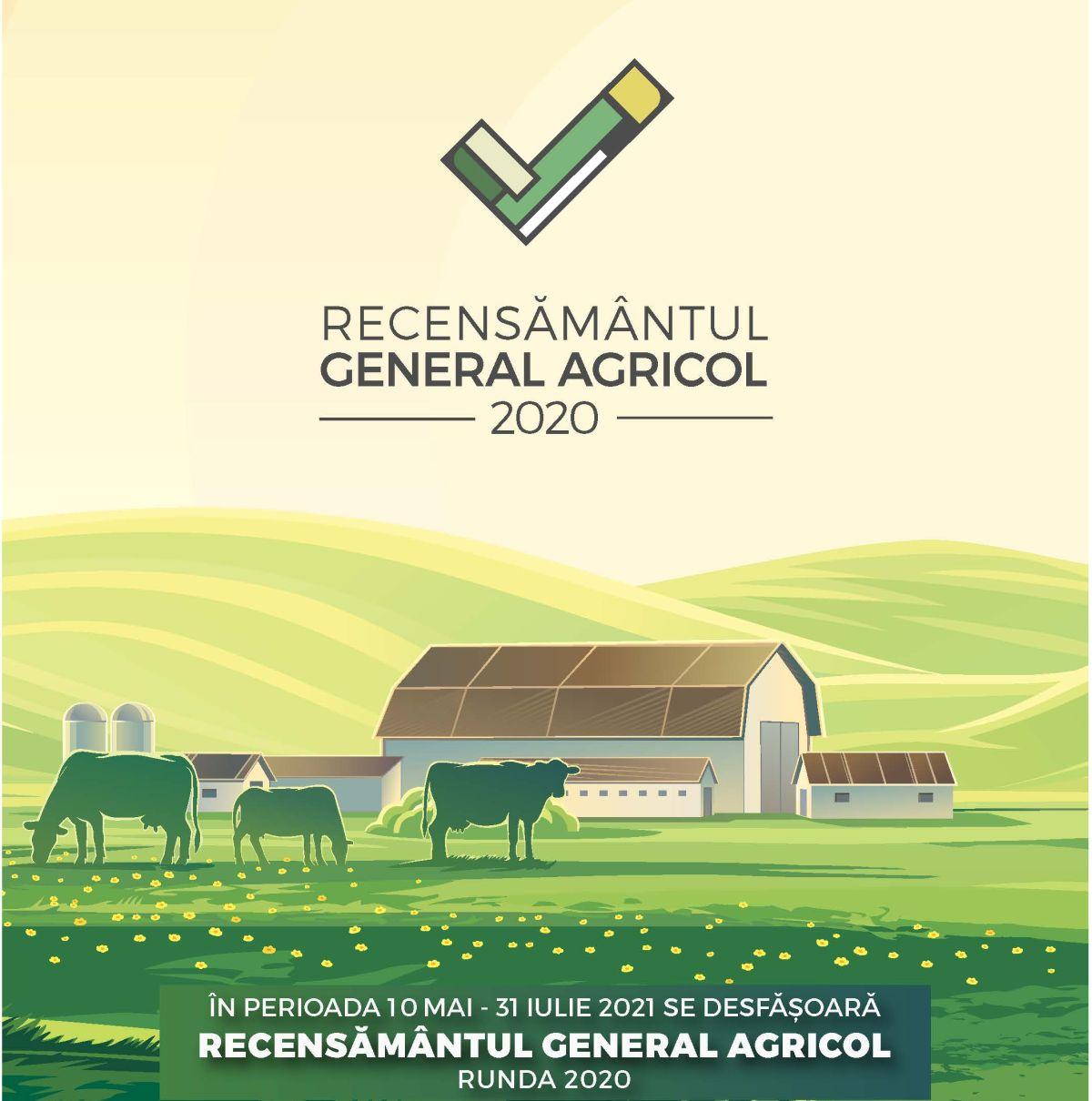 RECENSĂMÂNTUL GENERAL AGRICOL - 10 MAI - 31 IULIE 2021
